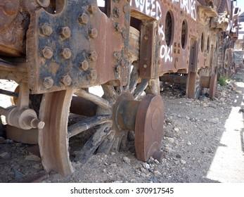 cementerio de los trenes in uyuni in bolivia