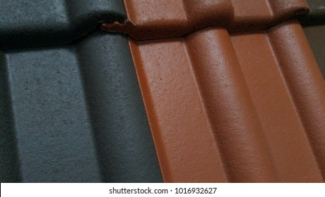 cement-sand tile red-black