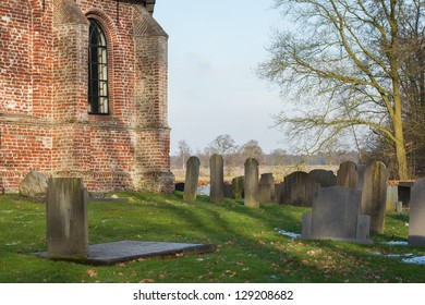 Cemetary at an old dutch Church, Katlijk