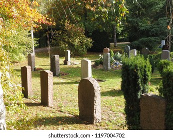 cemetery in autumn