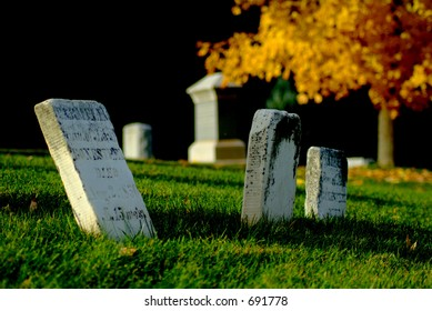 Cemetery in the beautiful fall colors