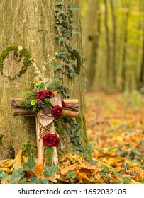 Cemetery in the forest,  burial in the forest