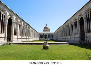 Cemetery garden in Pisa, Italy