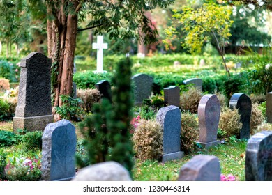 cemetery in Germany with old graves