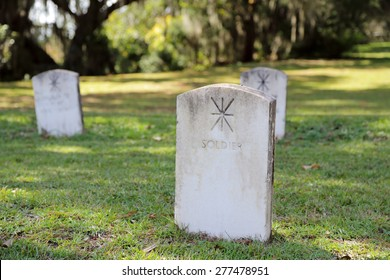 Cemetery headstones for soldiers