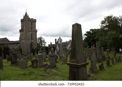 Cemetery of the Holy Rude Cathedral in Stirling near Stirling Castle in Scotland.