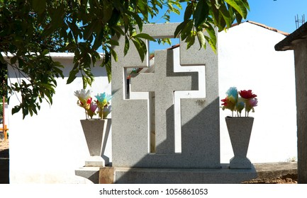 Cemetery, thombstone with a cross