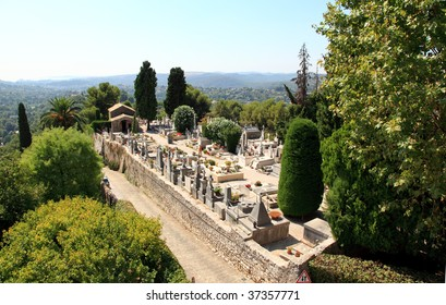 the cemetery in the village of Saint-Paul de Vence, Southern France