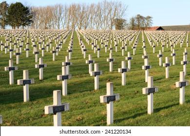 Cemetery world war one in France Vimy La Targette