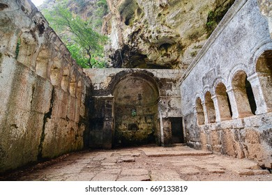 cennet and cehennem sinkholes church.(cennet and cehennem=heaven and hell) mersin,Turkey