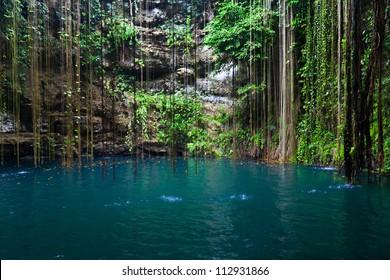 Cenote Ik-Kil in Yucatan Area, Mexico