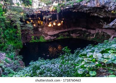 Cenote (sinkhole) in Yucatan, Mexico