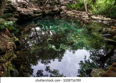 Cenote in Yucatan, Mexico dos ojos Cenote Xunaan-Ha