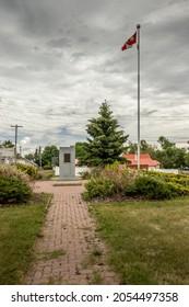 Cenotpah memorial in the town of Trochu Alberta Canada