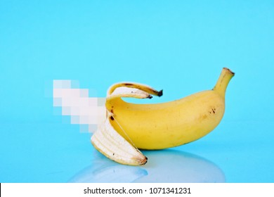 censored banana as a symbol of censorship in porn