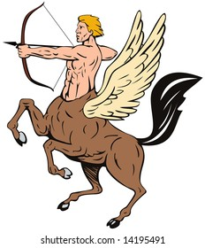 Centaur aiming a bow and arrow