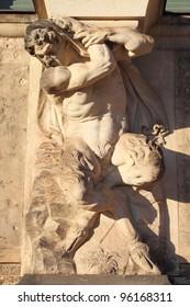 Centaur marble statue in Dresden Zwinger, Germany