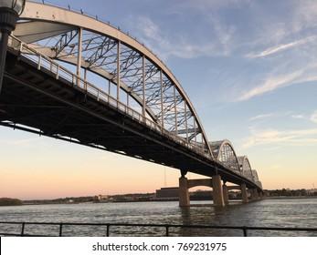 Centennial Bridge twilight