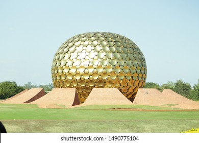 The center of Auroville called as the MATRIMANDIR near Pondicherry, South India. The spiritual place established by THE MOTHER of SHRI AUROBINDO ASHRAM.