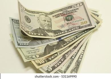 Center background with money american dollar bills