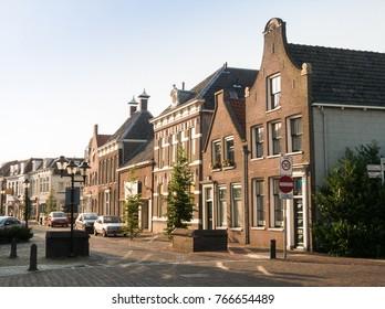 Center of the city of Nijkerk in the province Gelderland, Holland, NLD
