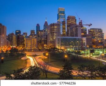 Center City Philadelphia at Dusk