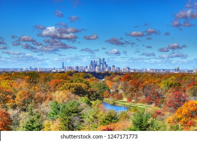Center City Philadelphia Skyline with Fall Colors