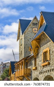 Center civic landmark building at San Carlos de Bariloche, Argentina