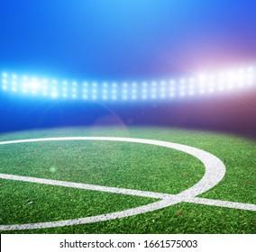 football stadium background images stock photos vectors shutterstock https www shutterstock com image photo center green football field on stadium 1661575003