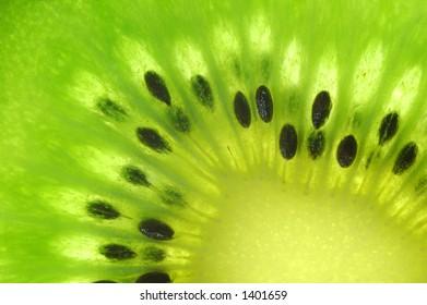 Center of Kiwi Fruit. Closeup.