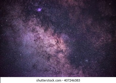 The center of the milky way galaxy, Night sky, Milky way close-up