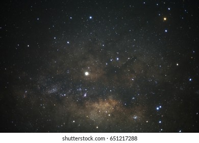 The center of Milky way galaxy with stars and space dust in the universe.