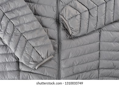 center part of mens insulated down jacket