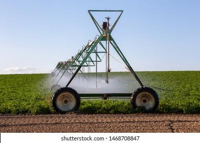 Center pivot crop irrigation or irrigating system for farm management