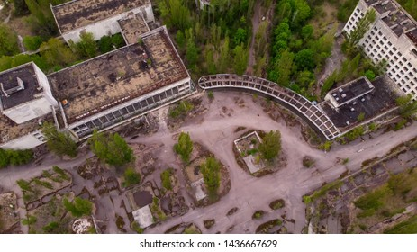 The center of Pripyat city from a height