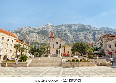 Center of the town of Makarska, Croatia