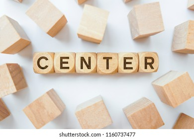 Center word on wooden cubes