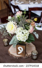 Centerpiece at a Wedding Reception