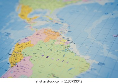 Central America on the map