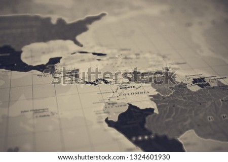 Central America On Map Stock Photo (Edit Now) 1324601930 - Shutterstock