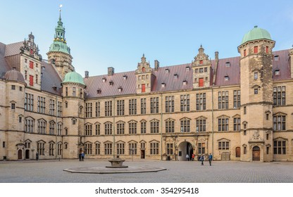 The Central area inside the complex Kronborg Castle, Helsingor (Elsinore), Denmark