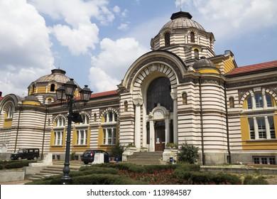 Central bath house in Sofia, Bulgaria.