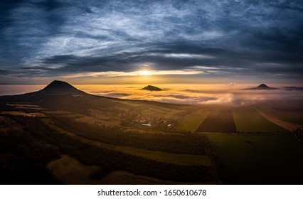 Central Bohemian Highlands is a mountain range located in northern Bohemia in the Czech Republic. The range is about 80 km long, extending from Ceska Lipa in the northeast to Louny.