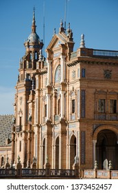Central building in the Spain Square (Plaza de España), in Seville, a landmark example of the Regionalism Architecture, mixing elements of the Renaissance Revival and Moorish Revival styles of Spanish