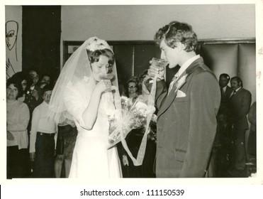 CENTRAL BULGARIA, BULGARIA,- CIRCA 1975: the area Plovdiv - newlyweds - circa 1975