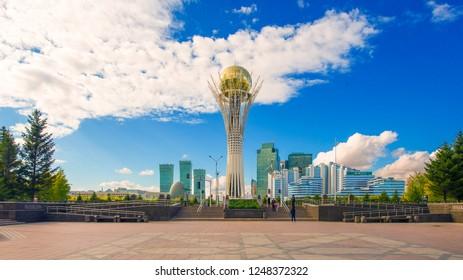 Central bulval in Astana. Kazakhstan. The photo was taken 30.09.2018
