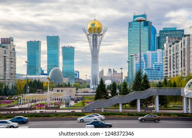 Central bulval in Astana. Kazakhstan. The photo was taken 30.09.2018