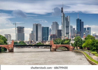 The central business district of Frankfurt Am Main
