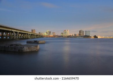 Central Business District, Lagos Island as seen across the Lagoon from Ijora, Lagos, Nigeria.