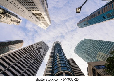 Central Business District in Singapore. Banking in Singapore is a service industry that has grown significantly in recent years.